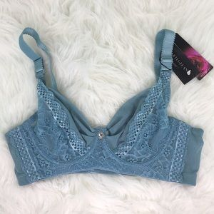 Mint Green Lace Bra 34c